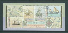 Australia 1992 Australia Day Columbus & Ships Miniature Sheet Fine CTO Full Gum - 1990-99 Elizabeth II
