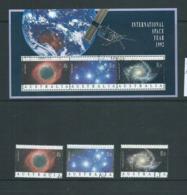 Australia 1992 International Space Year Set Of 3 & Miniature Sheet Fine CTO With Gum - 1990-99 Elizabeth II