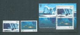 Australia 1990 Antarctic Scientific Research Set 2 CTO With Gum , Miniature Sheet Used - 1990-99 Elizabeth II