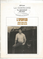 Partition Musicale Ancienne , HUGUES AUFRAY , L'EPERVIER , Frais Fr 1.85e - Partitions Musicales Anciennes