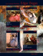 Togo 2014  Paintings Edgar Degas - Togo (1960-...)