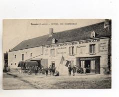 CPA - 37 - BOSSEE -  MAISON A.G. RONDEAU (Grains, Graines, Engrais) - Conscrits Devant CAFE Du COMMERCE - Autres Communes