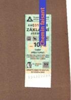 Lot De 7 Tickets PRAGUE  - Scans Recto-verso - Bus