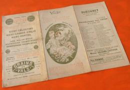 Vichy Eden-Théâtre Programme Du Samedi 20 Août 1910 - Programmes