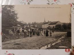 Contréglise Rue Principal Vue Du Bas (haute Saône Franche Comté) - Frankreich