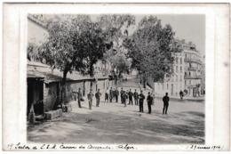 Carte Photo Alger 1914 Caserne Des Casemates Algérie Secrétaires D'État Major Rue Dupuch - Oorlog 1914-18