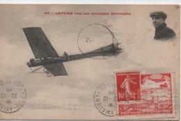 LATHAM  VOLE SUR MONOPLAN ANTOINETTE  AVEC VIGNETTE  PORT AVIATION 3 AU 17 OCTOBRE 1909 - Flieger