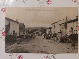 Contréglise Rue Principal Vue Du Haut (haute Saône Franche Comté) - Frankreich
