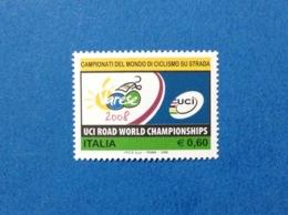 2008 ITALIA CICLISMO SU STRADA CAMPIONATI DEL MONDO UCI ROAD WORLD VARESE FRANCOBOLLO NUOVO STAMP NEW MNH** - 6. 1946-.. Republic