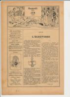 2 Scans 1893 Pêche Aux Ecrevisses Crustacé Mois Juin Zodiaque Signe De L'écrevisse (Cancer)  226CH11 - Old Paper