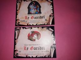 2 ETIQUETTES DE VIN . LE GARIDEL ROUGE- LE GAIRIDEL BLANC. CAVE COOPERATIVE SAINT JULIEN DE PEYRONAS 30. - Vin De Pays D'Oc