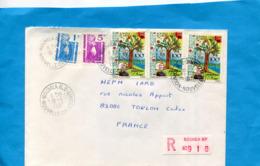 MARCOPHILIE- Lettre-NLLE CALEDONIE>Françe-cad- 1987-5 Stamps-N°509 Plantes Pour L'avenir - Briefe U. Dokumente