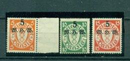 Danzig, Winterhilfswerk, Nr. 237 - 239 Postfrisch ** Geprüft BPP - Danzig