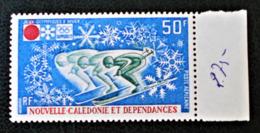 MEDAILLES AUX JEUX OLYMPIQUES DE SAPPORO 1972 - NEUF ** - MI 522 - BORD DE FEUILLE - New Caledonia