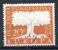 SARRE. N°384 Oblitéré De 1957. Europa'57. - 1957