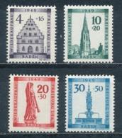 Französische Zone Baden 38/41 A ** Mi. 70,- - Zona Francese