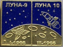 450-2 Space Russian Pin. Luna-9-10. Soviet Moon Program - Space