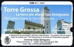 ITALIA SAN GIMIGNANO 2019 - TORRE GROSSA - LA TORRE PIU' ALTA DI SAN GIMIGNANO - PARCHEGGIO BAGNAIA - PARKING TICKET - Biglietti D'ingresso