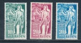 Französische Zone Baden 50/52 ** Mi. 45,- - Zona Francese