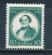 Französische Zone Baden 53 ** Mi. 4,50 - Zona Francese