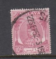 Malaya-Perlis Scott 15 1951 Raja Syed Putra 10c Plum,used - Perlis