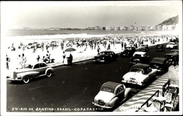 Cp Rio De Janeiro Brasilien, Copacabana, Strand, Autos - Altri