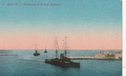 ***  MAlTE *** MALTA Entrance   Grand Harbour Unused TTB - Malte