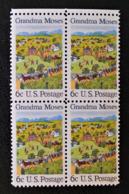 FETE NATIONALE DU 4 JUILLET - TABLEAU DE GRANMA 1969 - BLOC DE QUATRE NEUF ** - HAUT DE FEUILLE - Etats-Unis