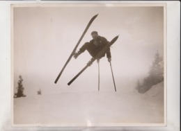 ENGELBERG  SWITZERLAND SWISS WINTER SPORTS 25*20CM Fonds Victor FORBIN 1864-1947 - Deportes