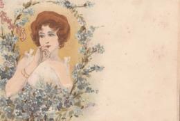 Cartolina  - Postcard /   Viaggiata - Sent /  Donnina - Frauen