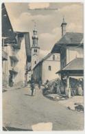 CPA 9 X 14 Savoie BOZEL Rue Principale  Lavoir Lavandière Cheval Cavalier Eglise - Bozel