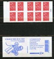 France, Yvert Carnet 3744-C9a**, Carnet Le Salon Du Timbre Et De L'écrit Avec Carré Noir, MNH - Standaardgebruik
