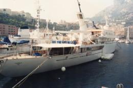 L - PHOTO ORIGINALE - BATEAU - MONACO - MONTE CARLO - YACHT ATLANTIS II - PROPRIETE NIARCHOS - AVRIL 1991 - Bateaux