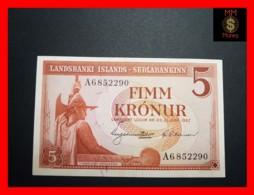 ICELAND 5 Kronur  L. 21.06.1957  P. 37 B  AU\UNC - Iceland