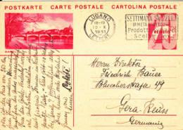 SUISSE - 1931 - Entier Postal Pour L'Allemagne - Basel - Interi Postali