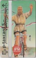 SUISSE - PHONE CARD - TAXCARD-PRIVÉE *** GUILLAUME TELL - 5  & VÉLO *** - Schweiz