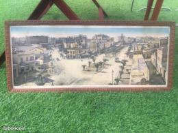 Ancienne Photo Panoramique Colorisée Chomo CASABLANCA BD 4 Zouave Rue FOUCAULT MAROC 59 Xx 24 Cm - Afrique