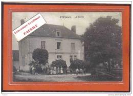 Carte Postale 21. Etevaux  La Mairie Trés Beau Plan - Autres Communes