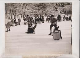 CRACK SEE SCAN ENGELBERG SHOVEL RACE SWISS SUIZA ZWITSERLAND  WINTER SPORTS 25*20CM Fonds Victor FORBIN 1864-1947 - Sin Clasificación