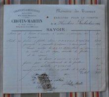 55 VERDUN  Charpente Et Menuiserie, Escaliers CHOTIN MARTIN  Timbre Fiscal - France