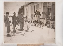 TABLE MADE OF SNOW  SWISS SUIZA ZWITSERLAND  WINTER SPORTS 25*20CM Fonds Victor FORBIN 1864-1947 - Sin Clasificación