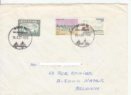 DANEMARK - 1987 - Lettre Commerciale Pour La Belgique - Danemark