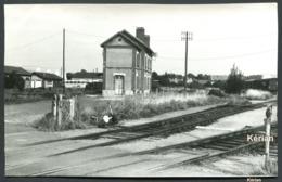 Cliché Pérève - Gare Du CF Nord-Est - Voir 2 Scans Larges - Bahnhöfe Ohne Züge