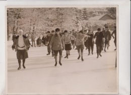 TEST OF WILL POWER ENGELBERG SWISS SWITZERLAND SUIZA WINTER SPORTS 25*20CM Fonds Victor FORBIN 1864-1947 - Fotos