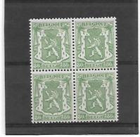 België  N° 713A Blok Van 4  Xx Postfris Cote 51 Euro - Belgien