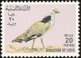 Libye. Libya.  1965. Outarde Houbara. Bustard; ** - Gallinacées & Faisans