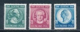 Französische Zone Rheinland-Pfalz 46/48 ** Mi. 30,- - French Zone