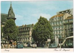 Nancy: SAVIEM SC10 AUTOBUS, ARRET DE BUS, RENAULT 5, 6 - 'Banque Populaire De Lorraine' - Toerisme
