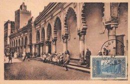 1942 .carte Maximum .france Ex Colonie .102786 . Mosquee El Kebir .cachet Alger . - Algeria (1924-1962)