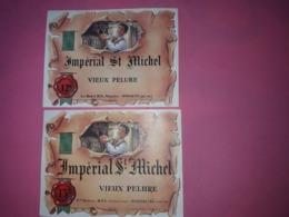 2 ETIQUETTES DE VIN. IMPERIAL SAINT MICHEL . VIEUX PELURE 12 Et 13 ° .  Ets Marcel BOY 66600 RIVESALTES. - Vin De Pays D'Oc